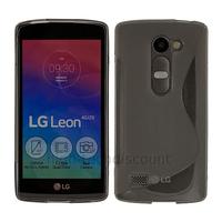 Housse etui coque pochette silicone gel fine pour LG Leon 4G LTE + film ecran - BLANC TRANSPARENT