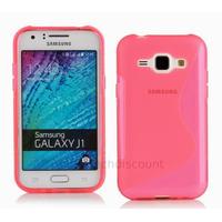 Housse etui coque pochette silicone gel fine pour Samsung Galaxy J1 + film ecran - ROSE