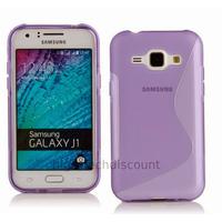 Housse etui coque pochette silicone gel fine pour Samsung Galaxy J1 + film ecran - MAUVE