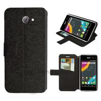 Housse etui coque pochette portefeuille pour Acer Liquid Z220 + film ecran - NOIR
