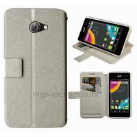 Housse etui coque pochette portefeuille pour Acer Liquid M220 + film ecran - BLANC