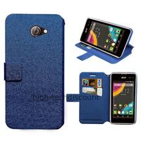 Housse etui coque pochette portefeuille pour Acer Liquid Z220 + film ecran - BLEU