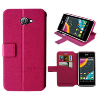 Housse etui coque pochette portefeuille pour Acer Liquid M220 + film ecran - ROSE