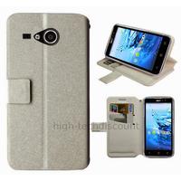 Housse etui coque pochette portefeuille pour Acer Liquid Z520 + film ecran - BLANC