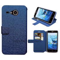 Housse etui coque pochette portefeuille pour Acer Liquid Z520 + film ecran - BLEU