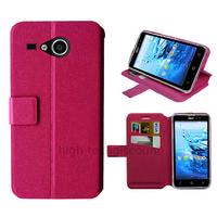 Housse etui coque pochette portefeuille pour Acer Liquid Z520 + film ecran - ROSE