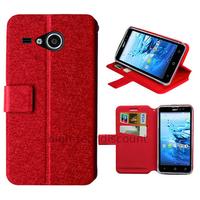 Housse etui coque pochette portefeuille pour Acer Liquid Z520 + film ecran - ROUGE