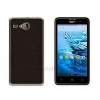 Housse etui coque pochette silicone gel fine pour Acer Liquid Z520 + film ecran - NOIR