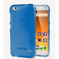 Housse etui coque pochette silicone gel fine pour ZTE Blade S6 + film ecran - BLEU