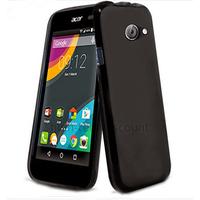 Housse etui coque pochette silicone gel fine pour Acer Liquid Z220 + film ecran - NOIR