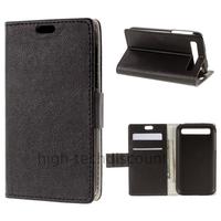 Housse etui coque pochette PU cuir portefeuille pour Blackberry Classic + film ecran - NOIR