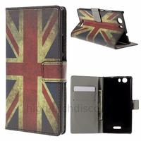 Housse etui coque pochette portefeuille PU cuir pour Wiko Ridge 4G + film ecran - UK