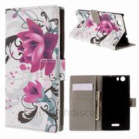 Housse etui coque pochette portefeuille PU cuir pour Wiko Ridge 4G + film ecran - LOTUS