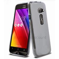 Housse etui coque pochette silicone gel fine pour Asus Zenfone 2 ZE500CL + film ecran - BLANC TRANSPARENT