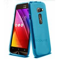 Housse etui coque pochette silicone gel fine pour Asus Zenfone 2 ZE500CL + film ecran - BLEU
