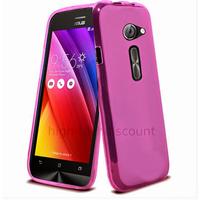 Housse etui coque pochette silicone gel fine pour Asus Zenfone 2 ZE500CL + film ecran - ROSE