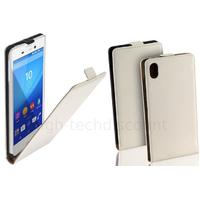 Housse etui coque pochette PU cuir fine pour Sony Xperia M4 Aqua + film ecran - BLANC