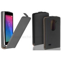 Housse etui coque pochette PU cuir fine pour LG Leon 4G LTE + film ecran - NOIR