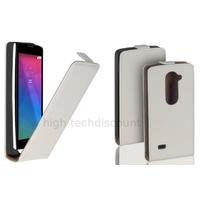 Housse etui coque pochette PU cuir fine pour LG Leon 4G LTE + film ecran - BLANC