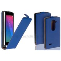 Housse etui coque pochette PU cuir fine pour LG Leon 4G LTE + film ecran - BLEU