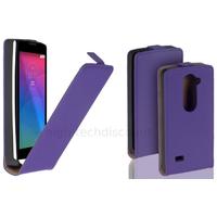 Housse etui coque pochette PU cuir fine pour LG Leon 4G LTE + film ecran - MAUVE