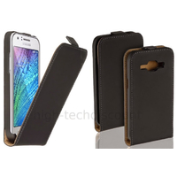 Housse etui coque pochette PU cuir fine pour Samsung Galaxy J5 + film ecran - NOIR