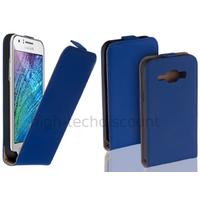 Housse etui coque pochette PU cuir fine pour Samsung Galaxy J1 + film ecran - BLEU