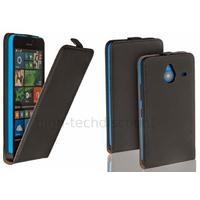 Housse etui coque pochette PU cuir fine pour Microsoft Lumia 640 XL LTE + film ecran - NOIR