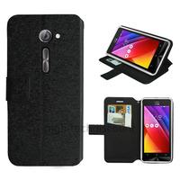 Housse etui coque pochette portefeuille pour Asus Zenfone 2 ZE500CL + film ecran - NOIR