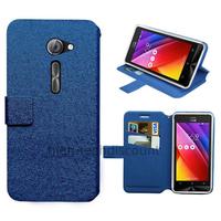 Housse etui coque pochette portefeuille pour Asus Zenfone 2 ZE500CL + film ecran - BLEU