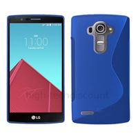 Housse etui coque pochette silicone gel fine pour LG G4 + film ecran - BLEU