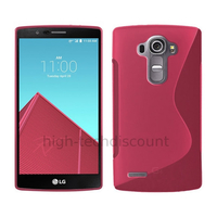 Housse etui coque pochette silicone gel fine pour LG G4 + film ecran - ROSE