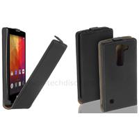 Housse etui coque pochette PU cuir fine pour LG Spirirt 4G LTE + film ecran - NOIR