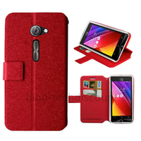 Housse etui coque pochette portefeuille pour Asus Zenfone 2 ZE5551ML / ZE550ML + film ecran - ROUGE