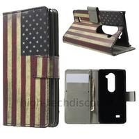 Housse etui coque pochette portefeuille PU cuir pour LG Leon 4G LTE + film ecran - USA