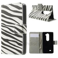 Housse etui coque pochette portefeuille PU cuir pour LG Leon 4G LTE + film ecran - ZEBRE