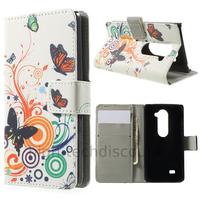 Housse etui coque pochette portefeuille PU cuir pour LG Leon 4G LTE + film ecran - PAPILLONS