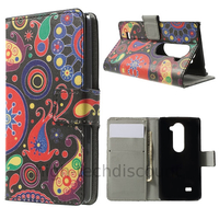Housse etui coque pochette portefeuille PU cuir pour LG Leon 4G LTE + film ecran - PAISLEY