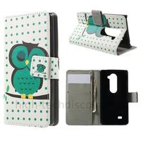 Housse etui coque pochette portefeuille PU cuir pour LG Leon 4G LTE + film ecran - HIBOU