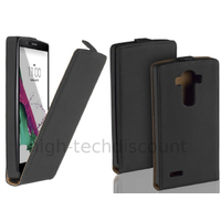Housse etui coque pochette PU cuir fine pour LG G4 + film ecran - NOIR
