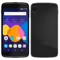 Housse etui coque pochette silicone gel fine pour Alcatel One Touch Idol 3 (4.7) + film ecran - NOIR