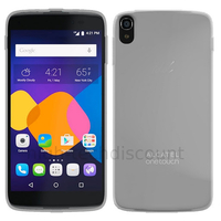 Housse etui coque pochette silicone gel fine pour Alcatel One Touch Idol 3 (4.7) + film ecran - BLANC TRANSPARENT