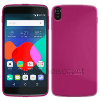 Housse etui coque pochette silicone gel fine pour Alcatel One Touch Idol 3 (4.7) + film ecran - ROSE