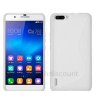 Housse etui coque pochette silicone gel fine pour Huawei Honor 6 Plus + film ecran - BLANC