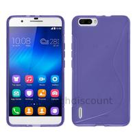 Housse etui coque pochette silicone gel fine pour Huawei Honor 6 Plus + film ecran - MAUVE