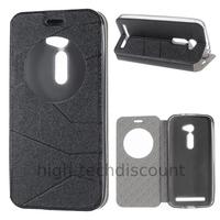 Housse etui coque portefeuille view case pour Asus Zenfone 2 ZE500CL + film ecran - NOIR