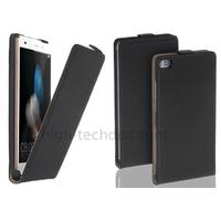 Housse etui coque pochette PU cuir fine pour Huawei Ascend P8 Lite + film ecran - NOIR
