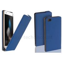Housse etui coque pochette PU cuir fine pour Huawei Ascend P8 Lite + film ecran - BLEU