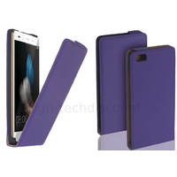 Housse etui coque pochette PU cuir fine pour Huawei Ascend P8 Lite + film ecran - MAUVE