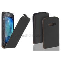 Housse etui coque pochette PU cuir fine pour Samsung G388F Galaxy Xcover 3 + film ecran - NOIR